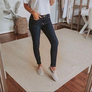 Frame Le Skinny De Jeanne Dark Denim Jeans 28